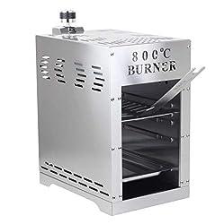 BonAura 800 Grad Burner Gasgrill für Steak und Beef - Gas Grill mit Brenner und Piezo Zünder - Oberhitzegrill BBQ aus Edelstahl