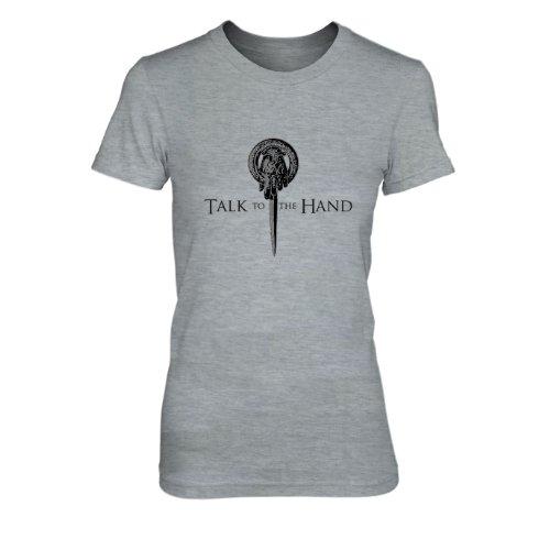 GoT: Talk to the Hand - Damen T-Shirt Grau Meliert