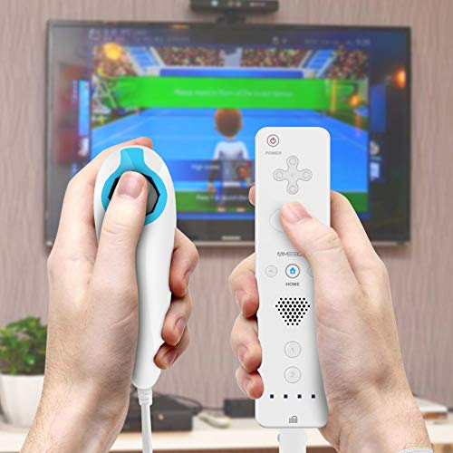 TheMax   Wii Remote Wii Controllers Wii U Game Wii Controller and Nunchuck Wii Nintendo Remote Controller White Plum Blossom D-Pad and Triangle Buttons Wii Joypad Wii Joystick  White