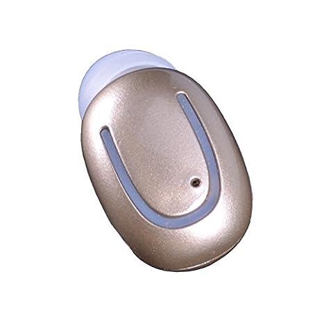 Wireless Bluetooth Headphone Earbuds Wireless Bluetooth Q13 Sport Kopfhörer Mini Invisible Headset Errichtet in Mic für Gym Running Fahren Gut zu tragen und Stereo Sound(Brown)