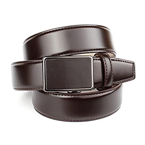 Anthoni Crown designer men`s leather belt chocolate color classic design/37040 (36