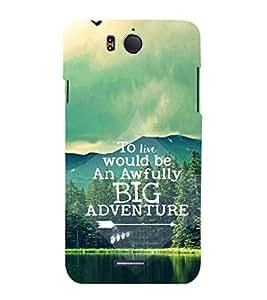 EPICCASE Big adventure Mobile Back Case Cover For InFocus M530 (Designer Case)