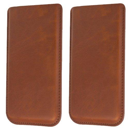 Braune Ultra Slim Tasche für ZTE Nubia Z5s Schutzhülle Handytasche Smartphone Etui Case Handy Cover Schutztasche Handyhülle