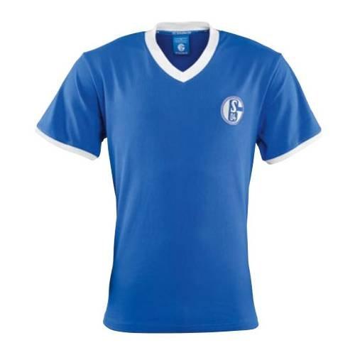 Schalke 04 FC Schalke 04 Retro Trikot Stan 60er Jahre königsblau, L