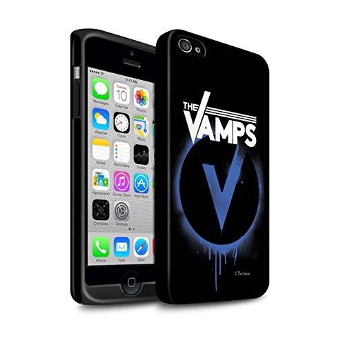 Officiel The Vamps Coque / Matte Robuste Antichoc Etui pour Apple iPhone 4/4S / Pack 6pcs Design / The Vamps Graffiti Logo Groupe Collection Bleu V