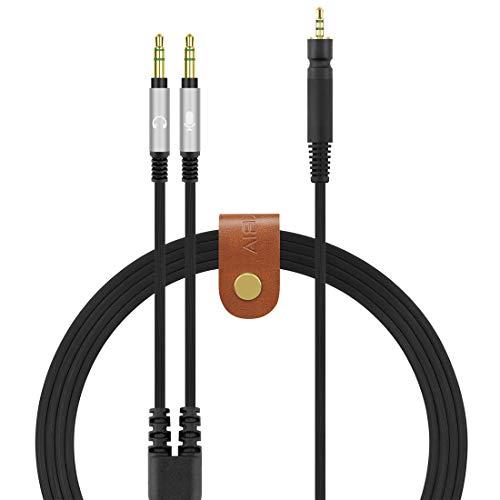 Geekria Cable de Audio de Repuesto Compatible con Sennheiser Game One, Game Zero, PC 373D, GSP 350, GSP 500, GSP 600 Auriculares para Videojuegos, Funciona con PC (5.6 pies, Negro)