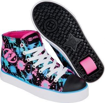 Heelys VELOZ Schuh 2017 black/pink/blue splatter 31