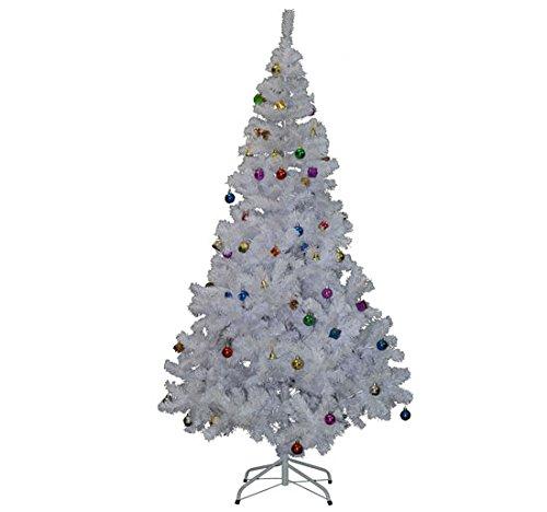 Árbol de Navidad Pino Abeto Arbol Plastico Blanco 180 cm INCLUYE DECORACION...