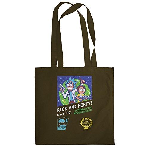 Texlab–Retro Design Rick–sacchetto di stoffa Marrone