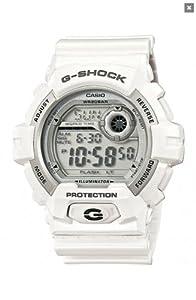 Casio G-8900A-7ER - Reloj digital de cuarzo para hombre con correa de resina, color blanco de Casio