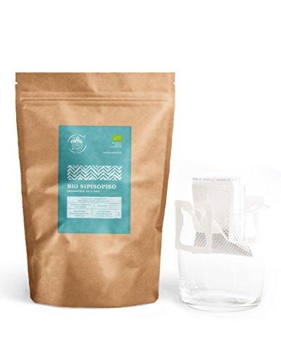 Bio Kaffee mycoffeebag SIPISOPISO | Selbstaufbrühen ohne Filterkaffeemaschinen | Arabica Bohnen aus Indonesien | Instant Kaffee Bio Alternative