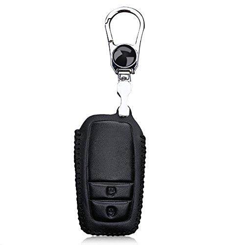 toxtech-pelle-smart-cover-per-chiave-auto-2-pulsanti-per-toyota-in-acciaio-inox-filo-rosso-nero