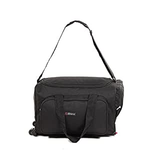 Bleu Convenient Black Travel Bag with Trolley (Medium - 23 (L) X 11(B) Inches