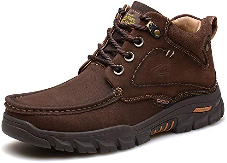 Gfphfm-scarpe Stivali da Combattimento da Uomo in Pelle Pelle Pelle Scamosciata Autunno Inverno Vintage Stivali Inglesi Scarpe... | benevento  db08cf