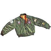Mc Allister Kinder Fliegerjacke Top Gun Kids Bomberjacke Wendejacke  verschiedene Farben S-XL 79251c652c