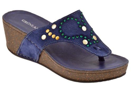 Grunland Cio224 Wedge 50 Tongs Neuf Chaussures F. Bleu