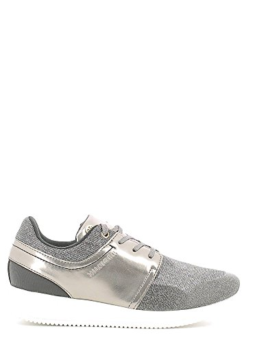 Tommy Hilfiger FW56821998 Sneakers Donna Tessuto Grigio Metallizzato/Nero Grigio Metallizzato/Nero 36
