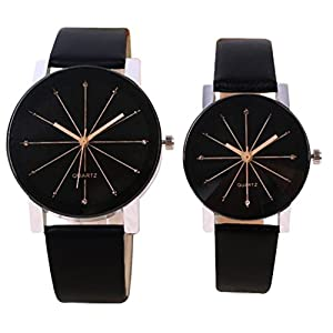Codice Analogue Black Dial Men's & Women's Couple Watch - Om Designer-123