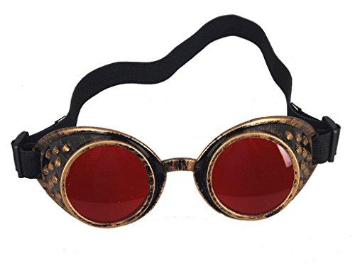 Brillen Weinlese-Art Steampunk Goggles Wedding Punk Vintage Brille Cosplay (Horse Racing Brille)