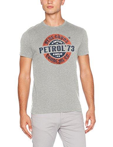 Petrol Industries Herren T-Shirt Grau (hellgrau-meliert)