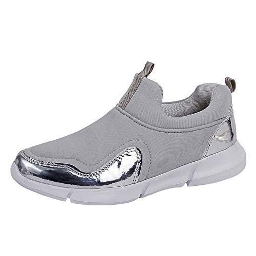 CUTUDE Herren Damen Joggingschuhe Outdoor Fitnessschuhe Trekking Schuhe Badeschuhe Schnell Atmungsaktive Trocknend rutschfeste Laufschuhe (Grau, 41 EU)