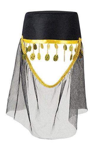 ima mit Schleier, womens, One Size (Gold Motto Party Kostüm Ideen)