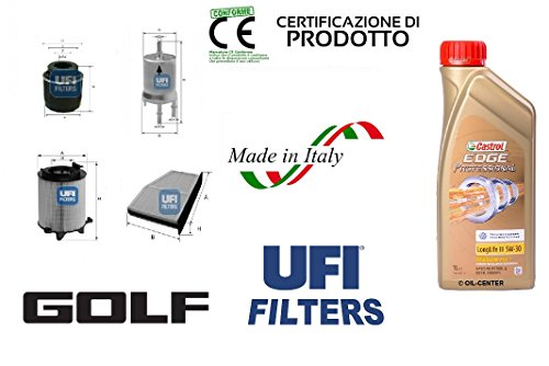kit-4-filtri-tagliando-ufi-vw-golf-vi-14-tsi-90-kw-4-lt-olio-castrol-edge-5w30