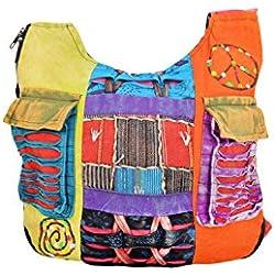 Bolso hippie largo multicolor