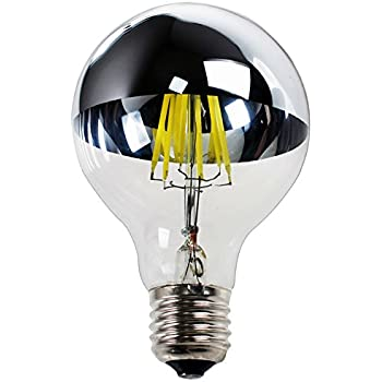 Led filament kopfspiegel silber 8w 60w e27 720lm agl gl hlampe gl hbirne gl hfaden warmwei - Kopfspiegellampe led e27 ...