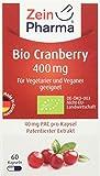ZeinPharma Cranberry Extrakt 400 mg 60 Kapseln (Monatspackung) Glutenfrei, vegan, koscher & halal Hergestellt in Deutschland, 29 g