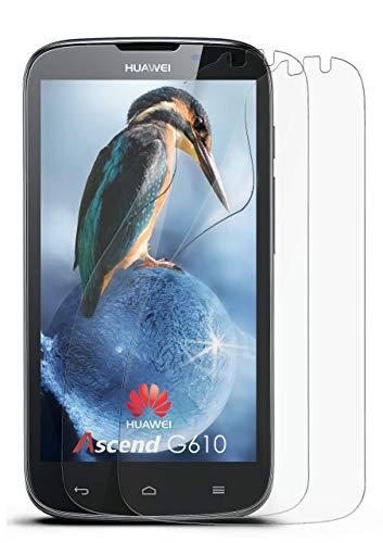 2X Huawei G610   Schutzfolie Matt Bildschirm Schutz [Anti-Reflex] Screen Protector Fingerprint Handy-Folie Matte Bildschirmschutz-Folie für Huawei Ascend G610 Bildschirmfolie