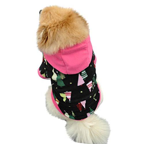 Amphia - Fleece-Pullover für Hunde,Haustier-Hundewelpen-mit Kapuze Sweatershirt Fleece-warme Mantel-Kleidung(XL,Schwarz)