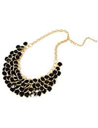 Collar llamativo collar collar de perlas Collier XXL negro / dorado