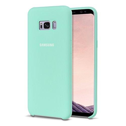 """MOONCASE Samsung Galaxy S8 Hülle, S-View Durable Rüstung Defender Handyhülle Anti-Kratzer Elastische Stoßfest Schutzhülle Cover für Samsung Galaxy S8 5.8"""" (2017) Hellgrün"""