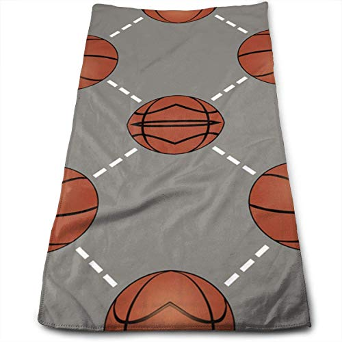 Juzijiang Basketball Court Polyester Bath Towels for Hotel-Spa-Pool-Gym-Bathroom - Super Soft Absorbent Ringspun Towels 12
