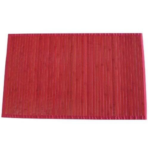 MSV Alfombra, Bambú, Rojo, 60x20x20 cm