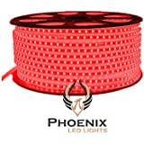 High Quality Waterproof LED Rope Light With Adapter For Decoration - 10 - Meters - RED Color (Phoenix Light)