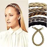 Alle Farben sind erhältlich, Dünne Geflochtene Haarband Blond Gemischt Haarverlängerung Haarteil