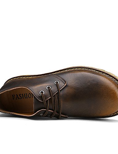 ZQ Scarpe Donna-Stringate-Tempo libero / Casual / Sportivo-Comoda / Scarpe con rotelle-Piatto-Nappa-Marrone / Rosso , brown-us11 / eu43 / uk9 / cn44 , brown-us11 / eu43 / uk9 / cn44 red-us5.5 / eu36 / uk3.5 / cn35