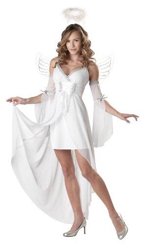 Hübsches Engel-Kostüm für Damen M (Sleeve Medium Verziert)