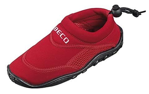 BECO Badeschuhe / Surfschuhe für Kinder rot