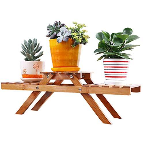 JNYZQ Flower Stand Floor Massivholz Balkon Tabletop Flower Rack Fleischigen grünen Radieschen Indoor Multi-Layer-Topf Rack -