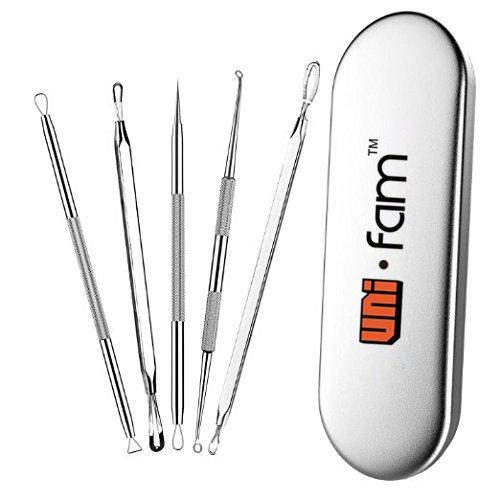 uni-fam-eliminador-de-espinillas-pimple-comedone-extractor-tool-mejor-kit-de-eliminacion-de-acne-par