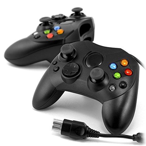 CSL - 2 x XBOX Gamepad inkl. Vibration (Rumble-Effekt) - Xbox Controller - ergonomische Bauform - für Microsoft® XBOX - V2 Modell 2015 - schwarz - 1,60m