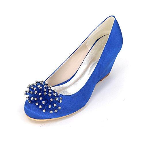 L@YC Tacchi alti delle donne Primavera / Estate / autunno / Tacchi invernali / Punto a punta Satin Wedding / Party & Evening Blue