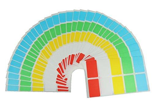 Preisvergleich Produktbild 500 Haushalts Aufkleber & Gefrieretiketten farbig - Gefrier Etiketten selbstklebend von JustRean