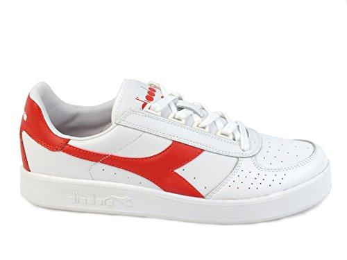 Diadora Unisex-Erwachsene B.Elite Pumps White Ferrari Red Italy