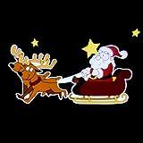 LED-Projektor Santa Claus buntes Motiv Rentierschlitten