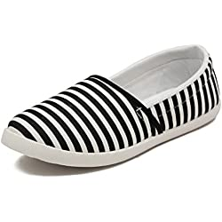 Asian Shoes Lr-93 Black Canvas Ladies Casual Shoes 7 Uk/Indian