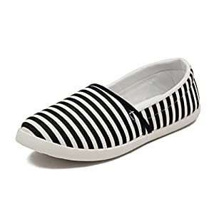 Asian shoes LR-93 Black Canvas Ladies Shoes